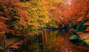 Autumn nature reflections rivers HD wallpaper