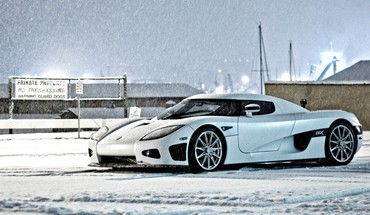 Snow cars koenigsegg ccx HD wallpaper