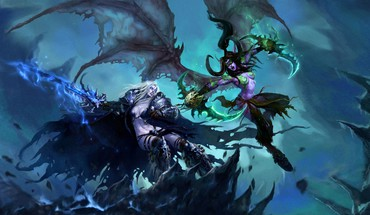 Rule 63 illidan stormrage arthas death knight HD wallpaper