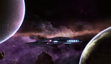 Outer space planets nebulae star trek online spaceships HD wallpaper