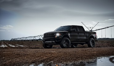 2014 Ford Raptor schwarz  HD wallpaper