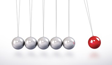 Isaac newton cradle metal balls red ball HD wallpaper