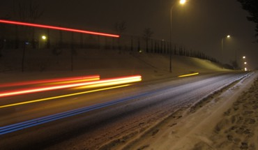 Cityscapes highways snow HD wallpaper