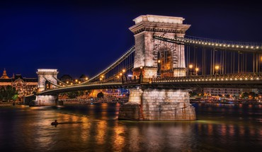 Chain bridge budapest HD wallpaper