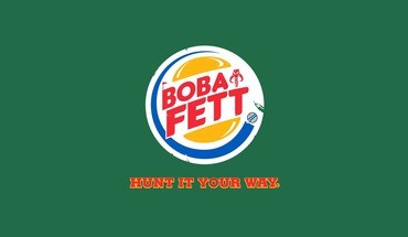 Boba fett front parody logos burger king HD wallpaper