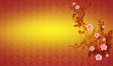 Chinese new year cherry blossom HD wallpaper