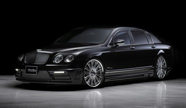 Juoda automobiliai automobiliai Bentley Continental Flying spur stumbras  HD wallpaper