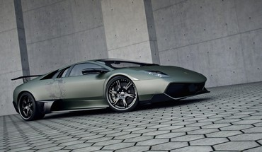 Lamborghini cars gray roads HD wallpaper