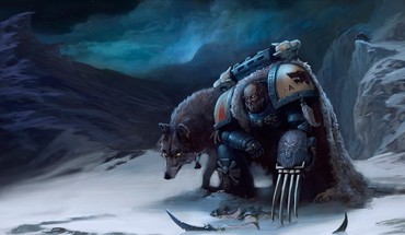 Space marines fantasy art claws wolves warhammer 40,000 HD wallpaper