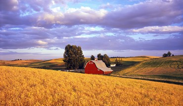 Nature red barn washington HD wallpaper