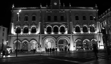 Stations plaza cities lisboa estaçao do rossio HD wallpaper