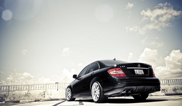 Amg mercedesbenz mercedes c 63 black cars HD wallpaper