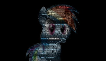 Quotes typography my little pony rainbow dash HD wallpaper