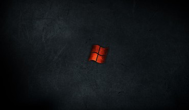 Minimalistic dark red metal windows HD wallpaper