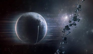 Outer space planet earth asteroids HD wallpaper