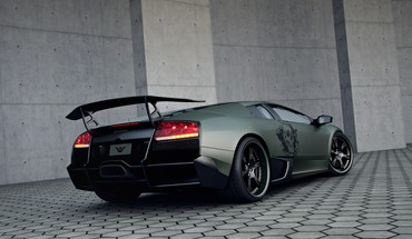 Lamborghini murcielago cars gray italian HD wallpaper