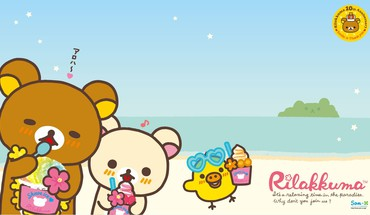 Beach rilakkuma HD wallpaper
