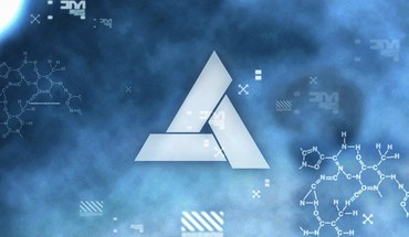 Abstergo industries animus assassins creed blue letters HD wallpaper