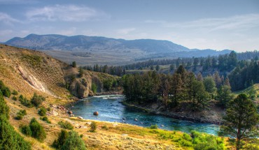Wunderbare Yellowstone River hdr  HD wallpaper