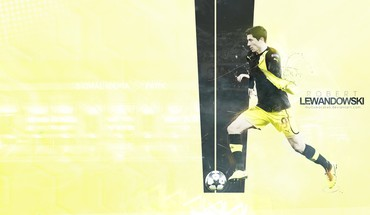 Bundesliga robert lewandowski borussia dortmund football players soccer HD wallpaper