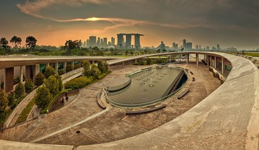 Landscapes cityscapes urban buildings golden singapore HD wallpaper