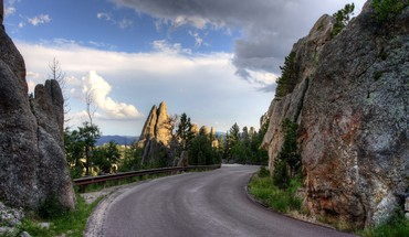 Landscapes roads rocks HD wallpaper