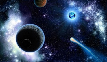 Planets and stars of space HD wallpaper
