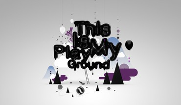 Abstract ground playground shapes simple background HD wallpaper
