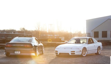 Sunset cars white silver jdm onevia nissan sileighty HD wallpaper