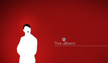 Minimalistic text nazi adolf hitler red background HD wallpaper