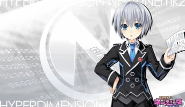 Hyperdimension mk2 de Neptunia tsunako filles gris filigrane  HD wallpaper