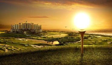 Golf digital art HD wallpaper