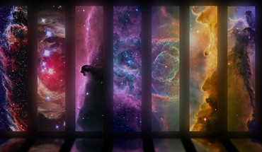 Collection of nebulae HD wallpaper