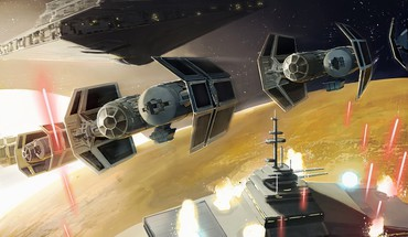 Star wars destroyers tie bomber artwork futuristic HD wallpaper