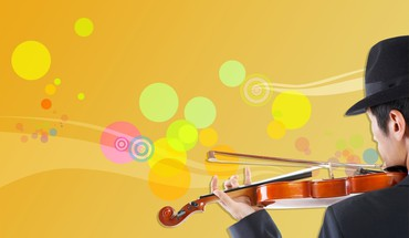 Music vector art violins HD wallpaper