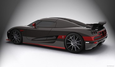 Koenigsegg black cars red HD wallpaper