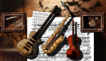 Musical instruments HD wallpaper