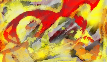 Abstract red multicolor paint HD wallpaper