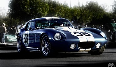 Shelby Cobra voitures bleu Nombre rayures de course  HD wallpaper