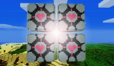Minecraft portal artwork cubes mosaic HD wallpaper