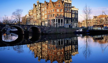 Cityscapes netherlands holland amsterdam reflections HD wallpaper