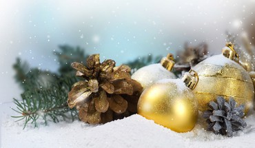 Decorations snow HD wallpaper