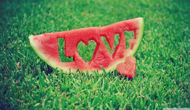 Abstract love watermelons HD wallpaper