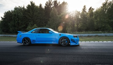 Blaue Autos Drift maximale r34  HD wallpaper