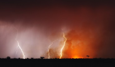 Botswana landscapes lightning HD wallpaper