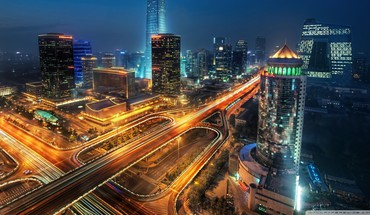 China at night HD wallpaper