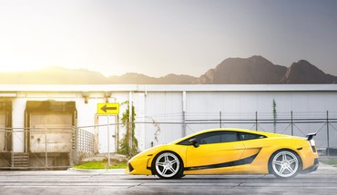 Supercars voitures Lamborghini Gallardo LP570-4 jaunes performante  HD wallpaper