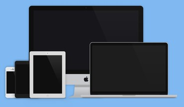 Laptops flat graphic layout responsive devices designers HD wallpaper