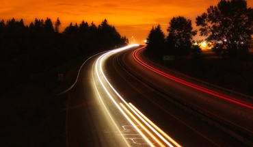 Interstate night highway HD wallpaper
