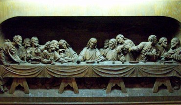The last supper artwork wood carving HD wallpaper
